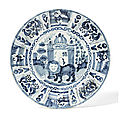 Three dutch delft dishes, late 17th century & circa 1730