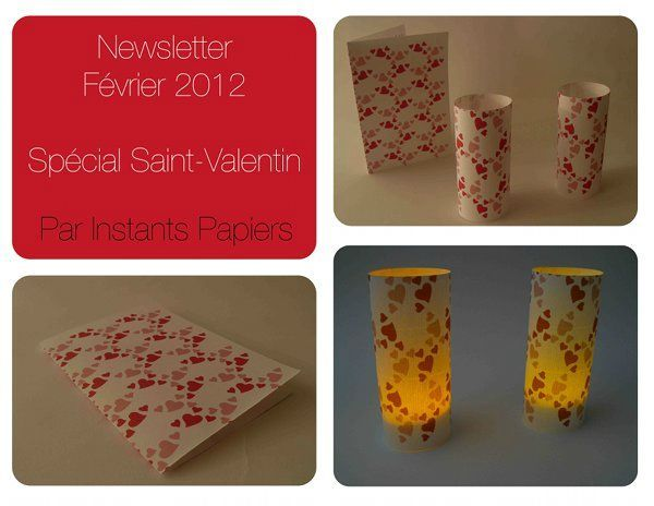 Newsletter Saint Valentin