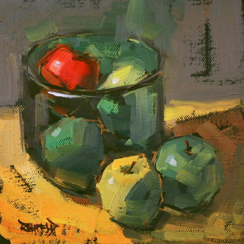 Cathleen Rehfeld - greenbowl_onered_1300 - 6x6 inc