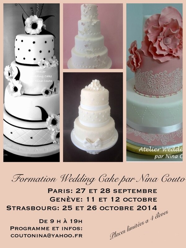pub formation wedding cake
