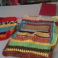 Yarn bombing en préparation
