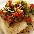 Dos de cabillaud et salsa ottolenghi