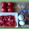Tomates farcies au thon, mozzarella