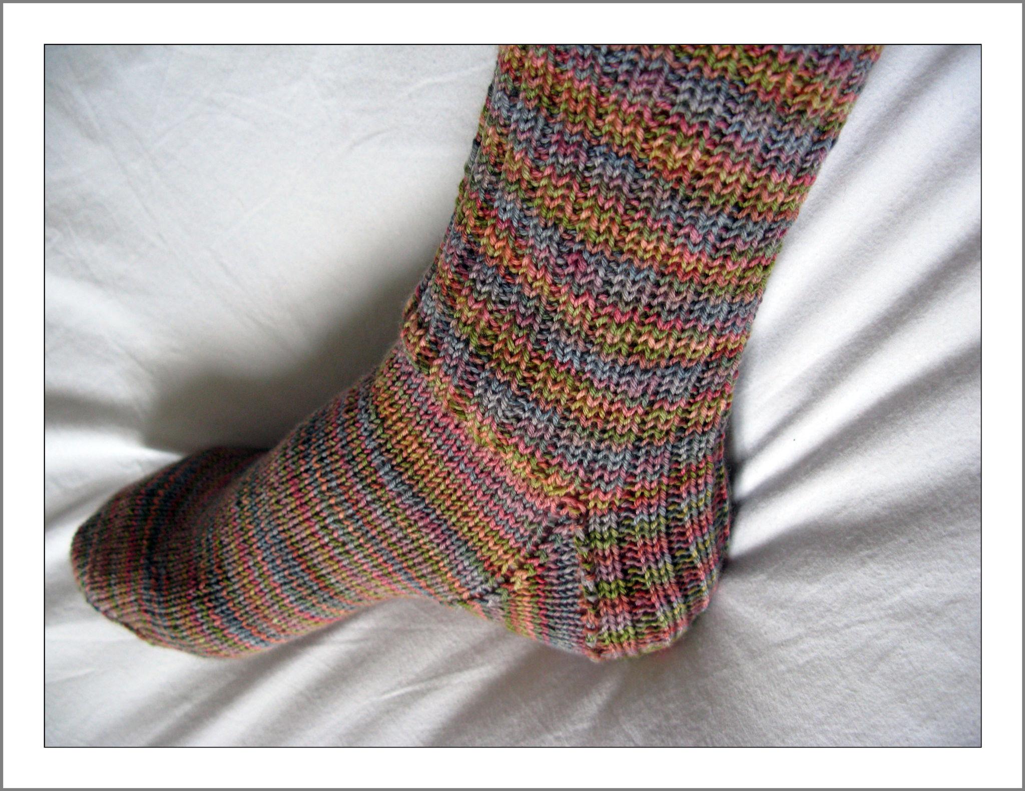 tricoter 2 chaussettes en meme temps