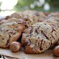 Cookies choco-noisettes {sans gluten, sans plv}