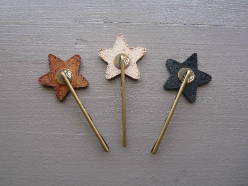 Barrette toile en cuir lili madeleine - Fabriquer un ciel etoile ...