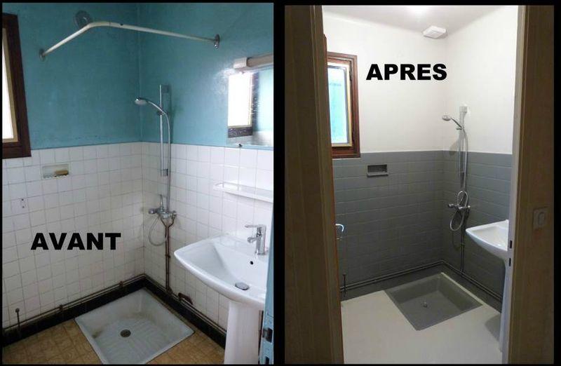 avant apres la salle de bain chantournage en savoie. Black Bedroom Furniture Sets. Home Design Ideas