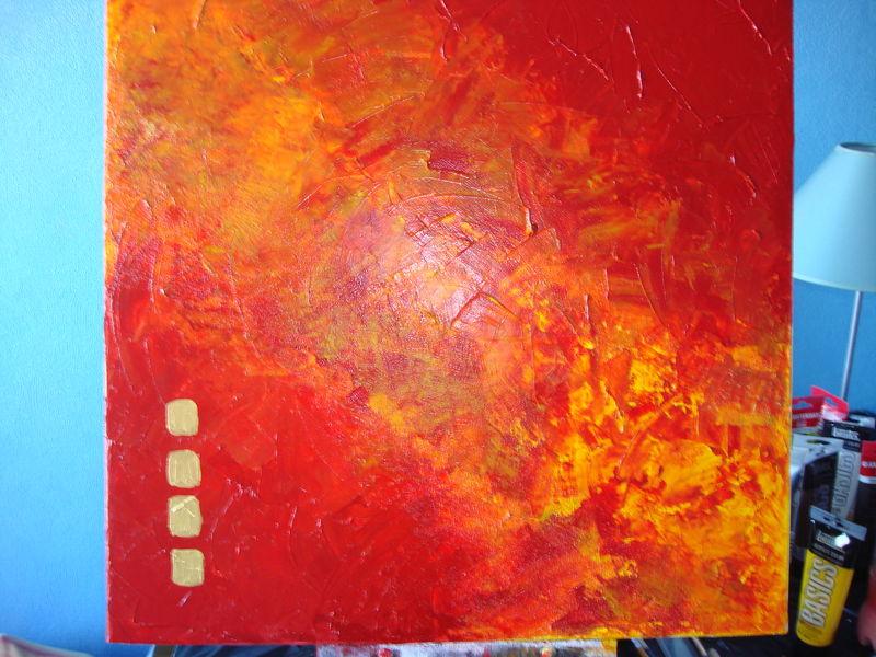 n 8 peinture acrylique nuance de rouge orange les. Black Bedroom Furniture Sets. Home Design Ideas