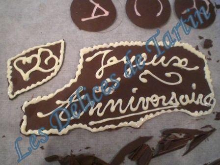 décors en chocolat - les délices de tartin