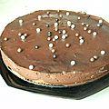 Entremet au praliné croustillant et chocolat