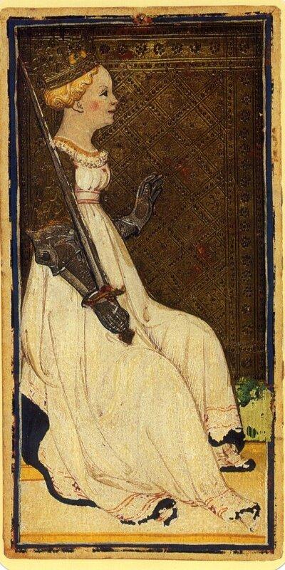 Visconti Sforza Pierpont Morgan Reyne Epees ca 1440 - quatramaran