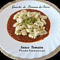 Gnocchi de pommes de terre aux 2 sauces italiennes