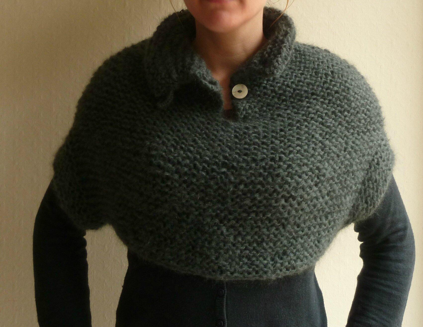 tricoter un chauffe epaule facile