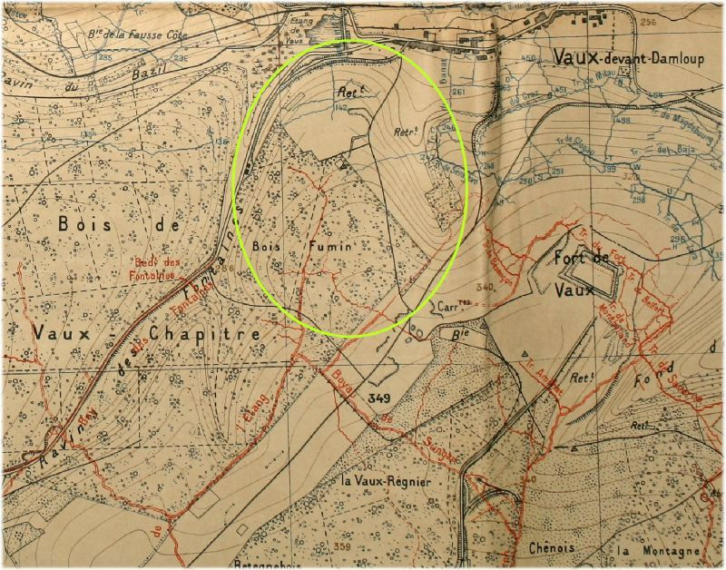 canevas tir 3 juin 1916 douaumont etain