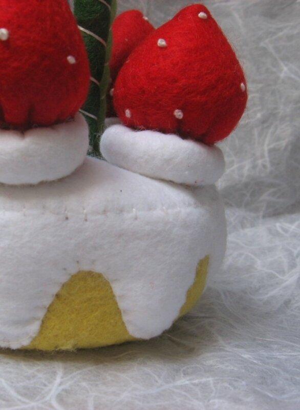 Gâteau fraise en feutrine #3