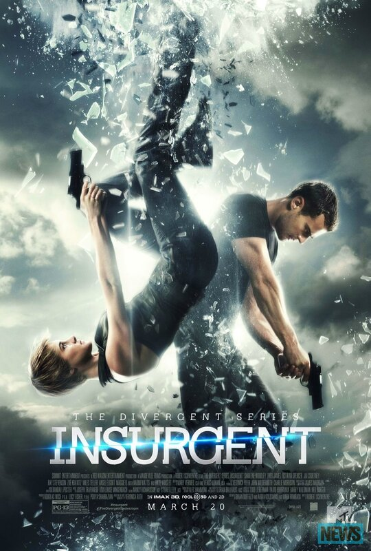 Insurgent movie poster Tris and Tobias