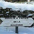 Couze sous la neige vue par françoise cheyrou