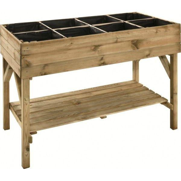 table pour carr potager en pin gariguette jardi shopping le blog de moon. Black Bedroom Furniture Sets. Home Design Ideas