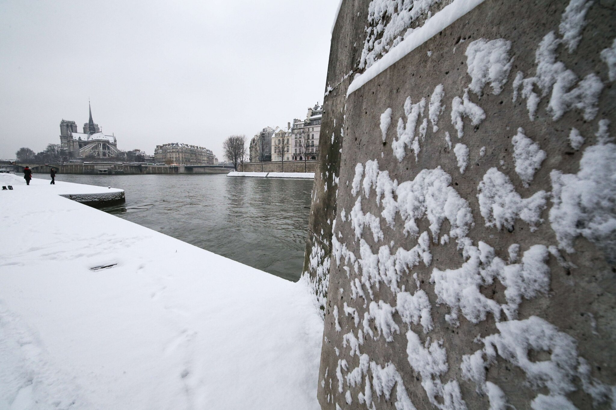 Paris sous la neige. © Photo Michel Stoupak. Sam 19.01.2013, 09:46.