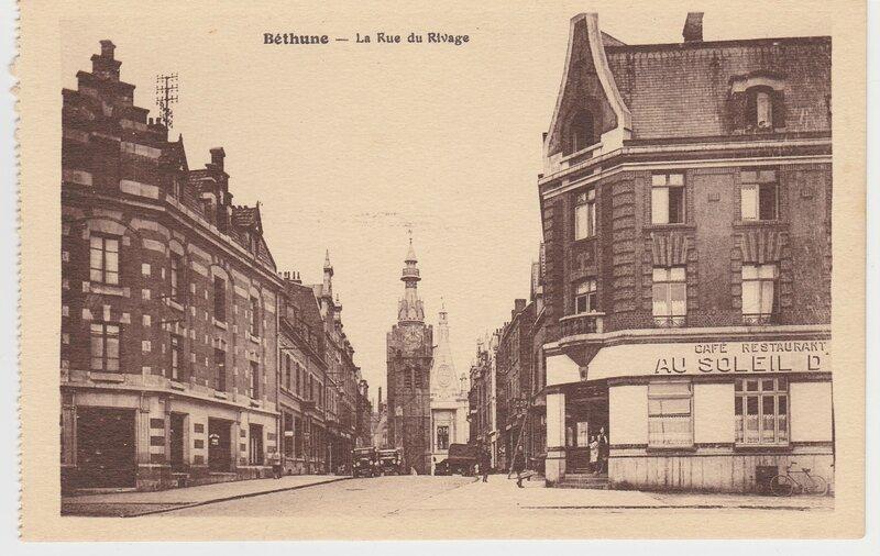 CPA, Béthune, la rue du Rivage