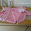 Queue de sirène au crochet : couverture pour bébé