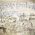Birkenau, fresque sur mur baraquement (Pologne)