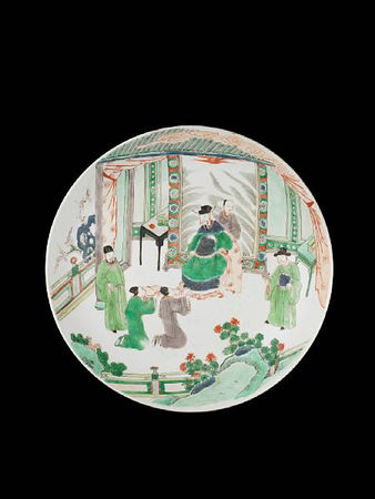 A_famille_verte_saucer_dish