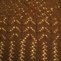 Aran Weight Victorian Lace Shawl d' Elann