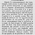 1886 12 octobre : le raisin à 30f la caque