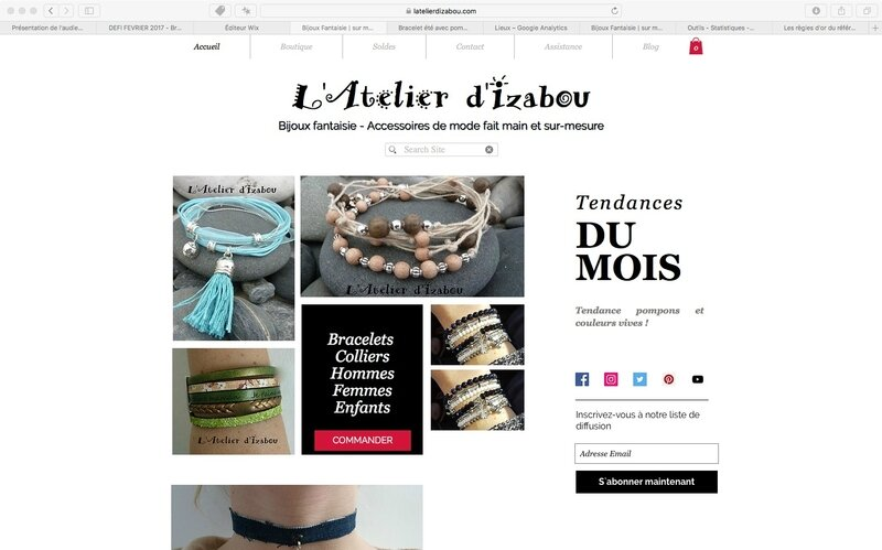 Boutique en ligne - L'atelier d'Izabou - Bijoux fantaisie - copie