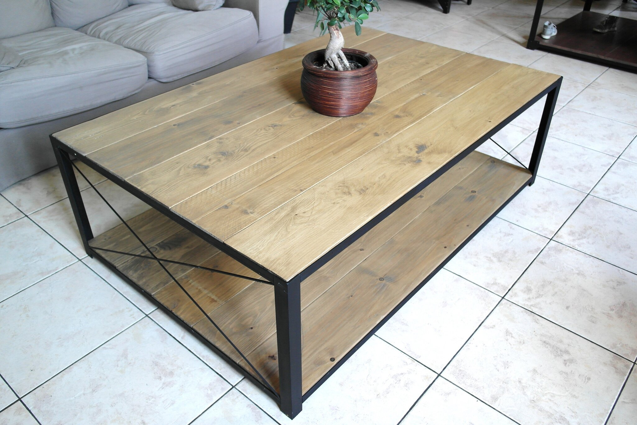 Grande table basse l 39 atelier broc loft - Table basse atelier loft ...