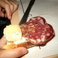 La Tartine de Lulu... pain/fromage/saucisson/chocapic