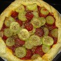 Tarte courgettes chorizo