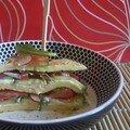 Blinis de pomme de terre aux légumes croquants et au chèvre