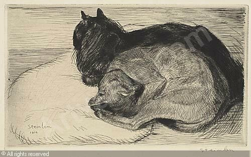 steinlen-theophile-christian-g-deux-chats-endormie-2015970