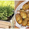 Pommes de terre rôties à la suédoise au thym citron