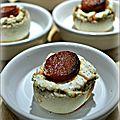 Champignons farcis au fromage de chèvre et chorizo