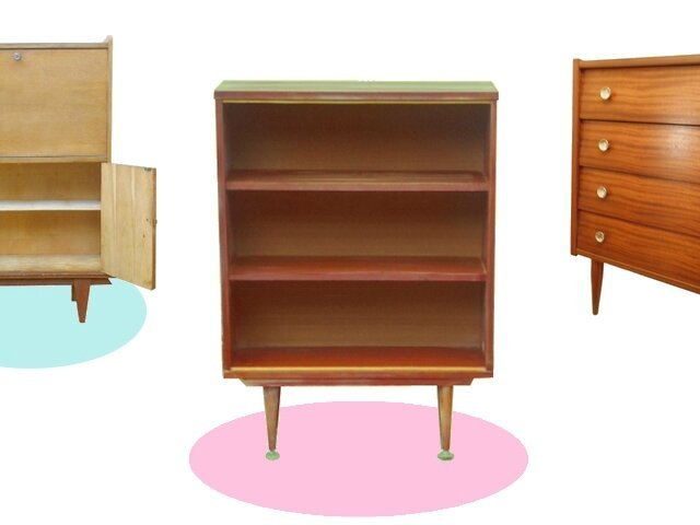 etagere bibliotheque enfant vintage 1970 teck meubles. Black Bedroom Furniture Sets. Home Design Ideas