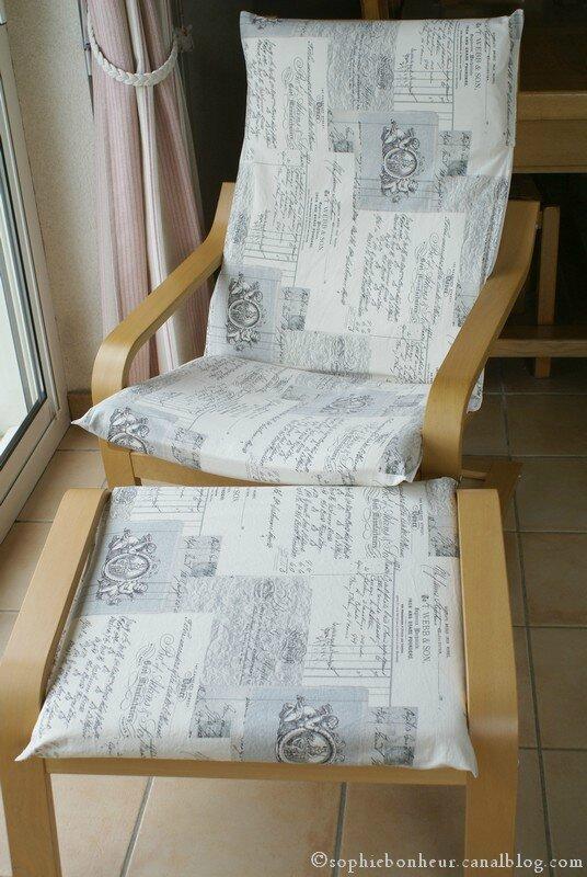 Housse simple pour le poang aux petits bonheurs de sophie for Housse fauteuil poang