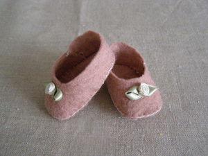 petit chaussons de Lila rose
