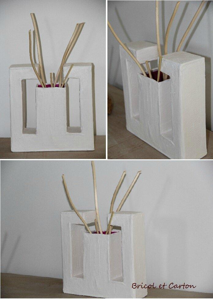 Vase en carton et astuce r cup bricol et carton - Astuces bricolage recup ...