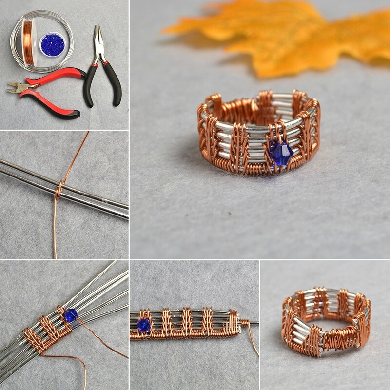 1080-PandaHall-Original-DIY-Project-–-How-to-Make-a-Glass-Beaded-Wire-Wrapped-Ring