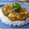 Émincés de poulet, sauce curry