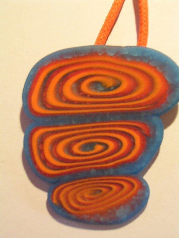 spirale bleu/orange