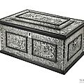 A large baroque embossed silver and ebony mounted casket, south germany-north italy, 17th century