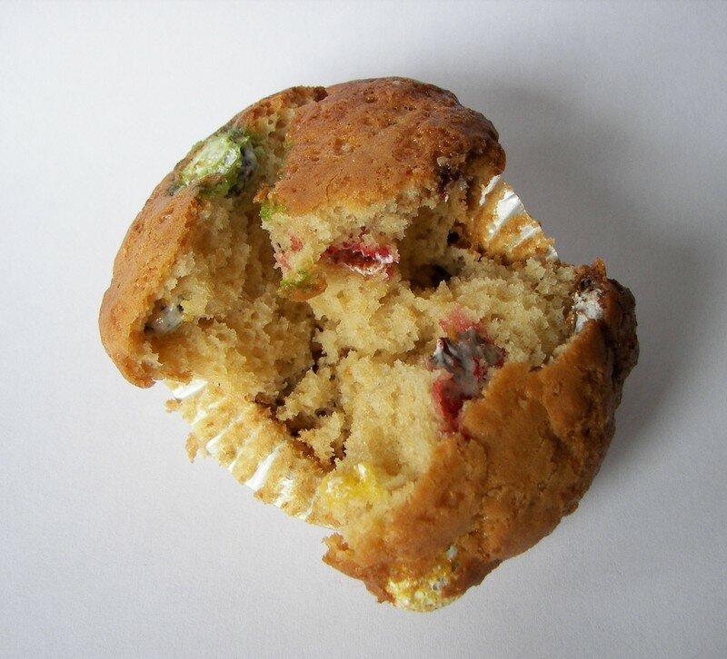 Muffins aux smarties,encore