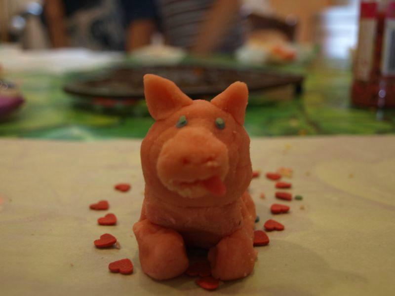 le cochon en pâte d'amande de Zoé