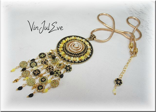 collier Sulu Jaune or noir