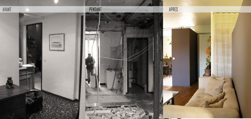 avant apres 007 photo de avant apr s r novation d 39 un loft villeurbanne 69 archifloor. Black Bedroom Furniture Sets. Home Design Ideas