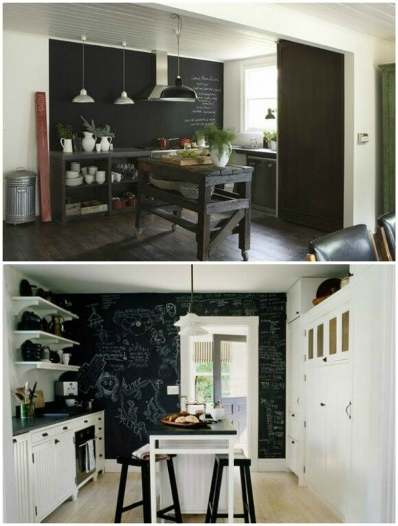 trendy ardoise murale cuisine diy tous les messages sur tyd think your deco coach dco with. Black Bedroom Furniture Sets. Home Design Ideas